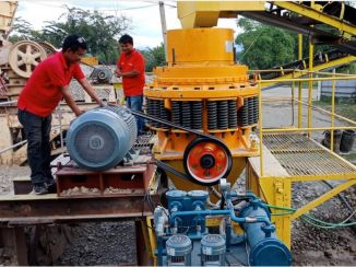 PYB900 spring Crusher working in Philippines